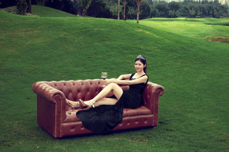 Le canapé gonflable